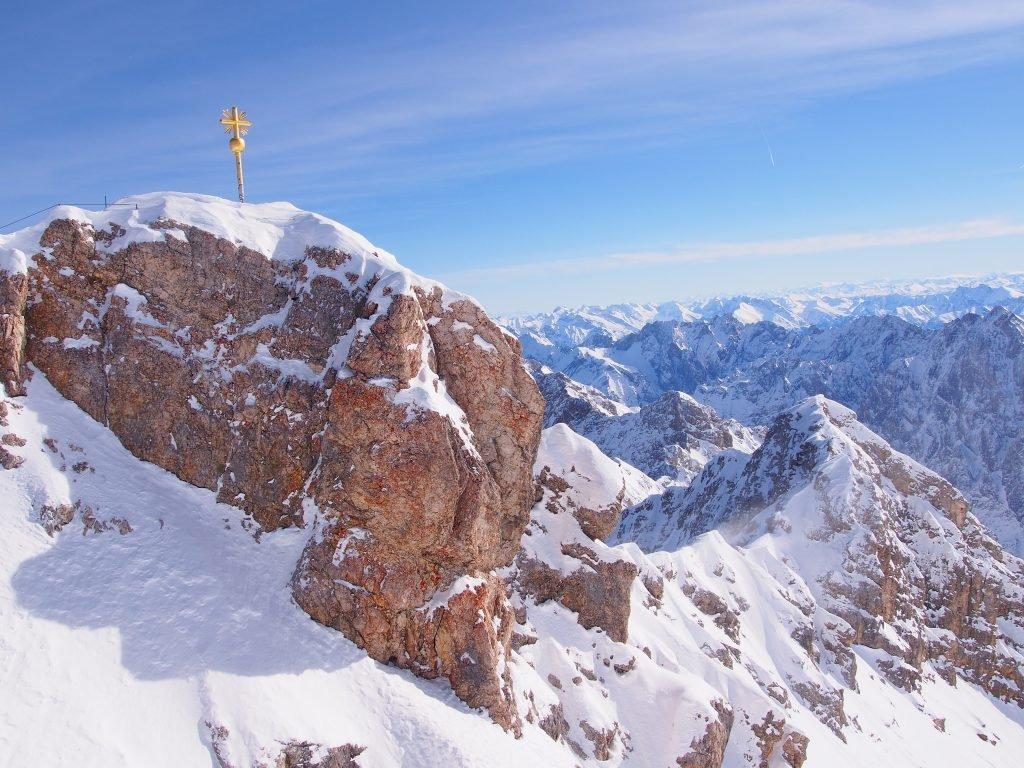 Zugspitze zimą