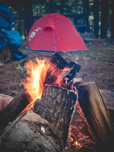 Canada Camping Fire
