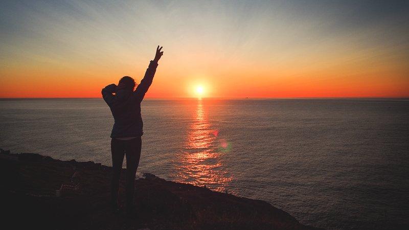 Wschód Słońca Cape Spear Nowa Fundlandia Kanada