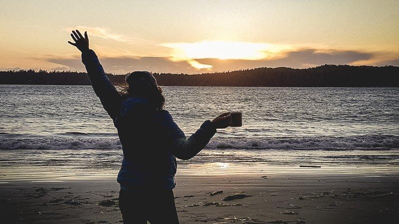 zachód słońca Tofino Vancouver Island Kanada