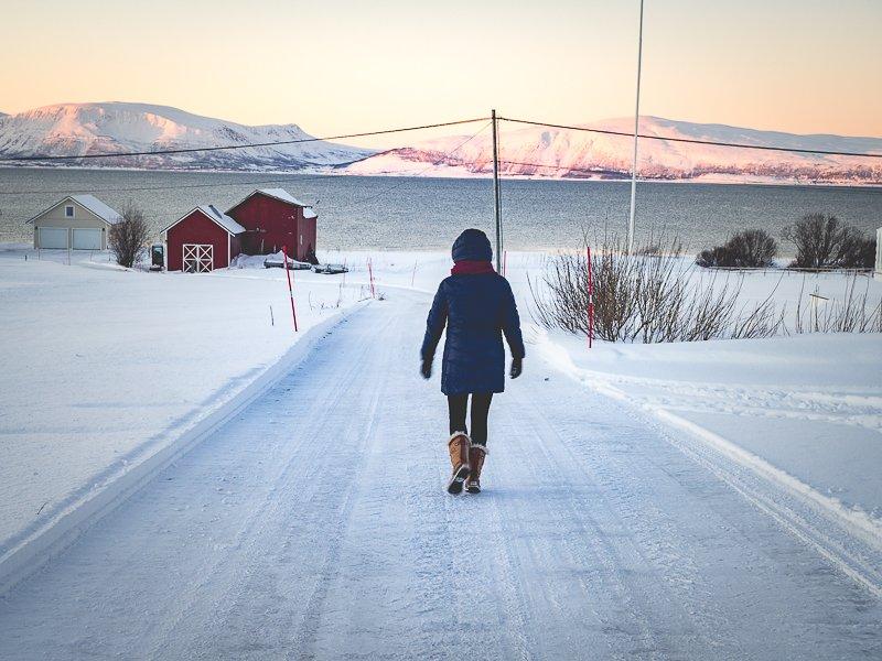 Norwegia Tromso Zima Polowanie na Zorze Alpy Lyngen