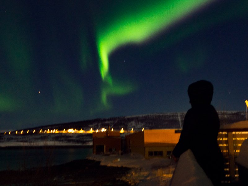 LyngenFjordcamp Zorza Polarna Norwegia
