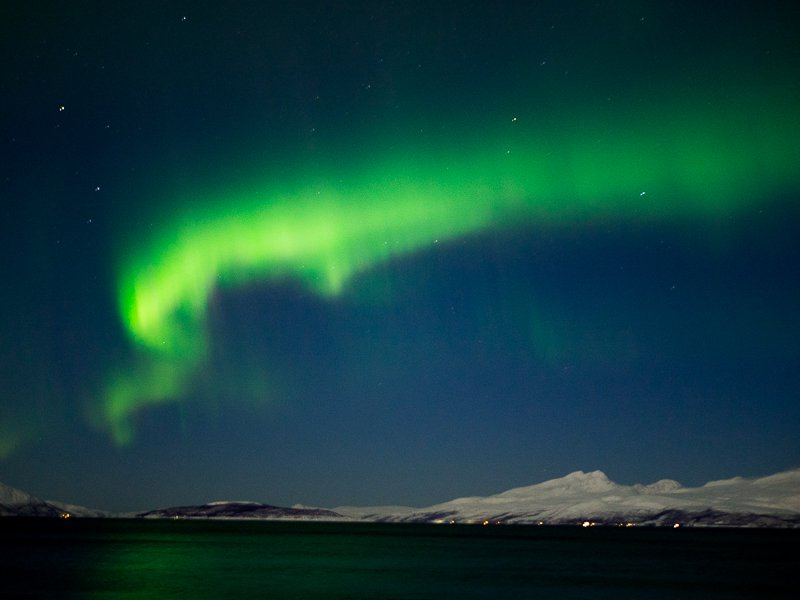 Zorza Polarna Tromso Alpy Lyngen Norwegia