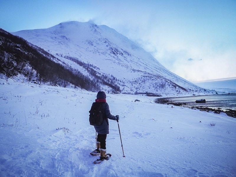 Snowshoeing Xlyngen Lyngen Alps