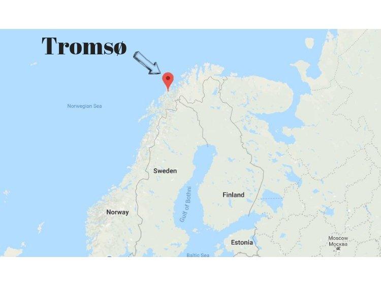 Tromso mapa