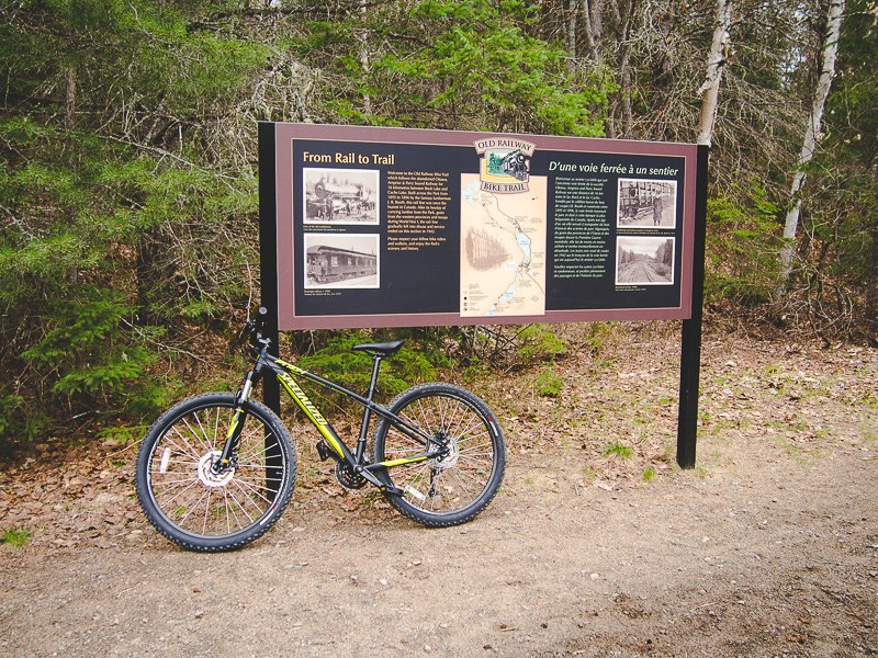 Old Railway Bike Trail Alganquin Park Ontario Canada
