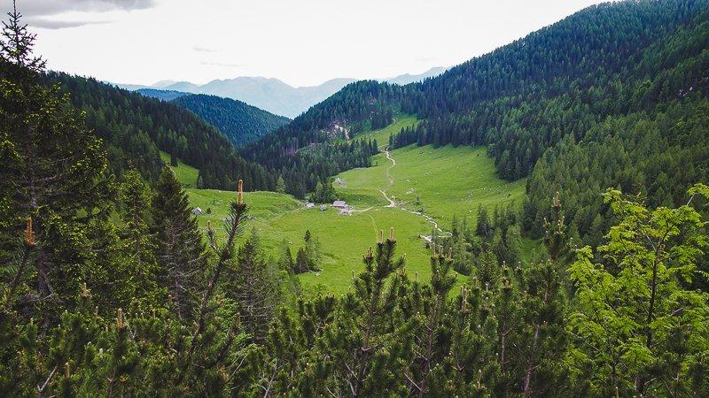 Planina Konjščica Rudno Poje Triglav Slovenia