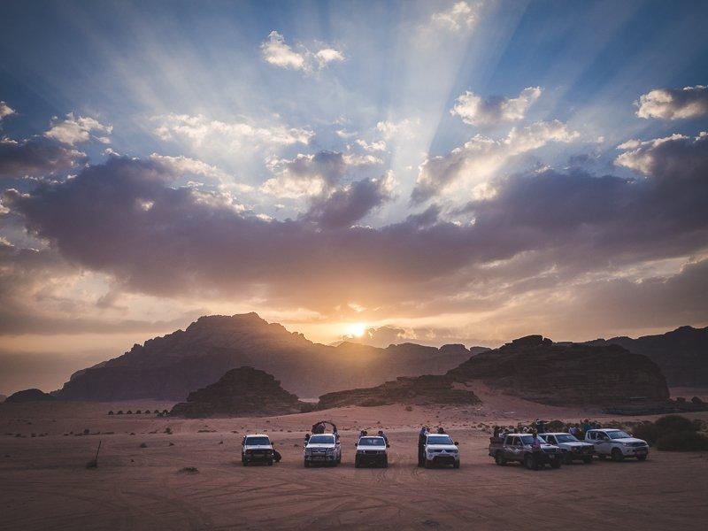 Jordania Wadi Rum Jordan Sun Set Aga Out Of Office
